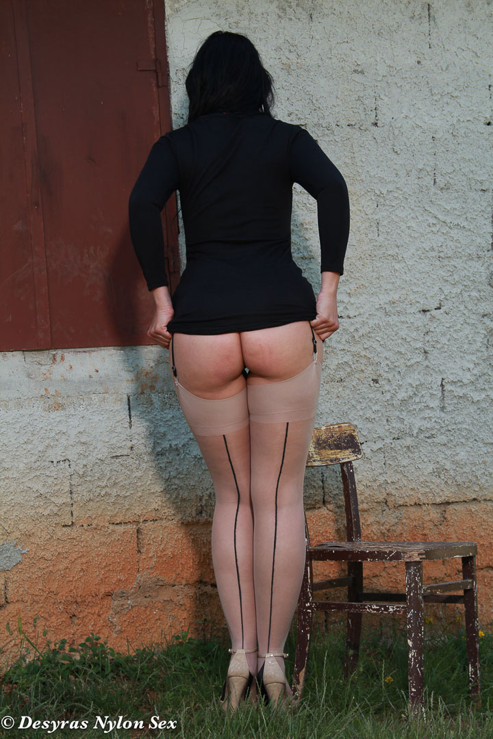 Busty lady in pantyhose rides dick at work 6
